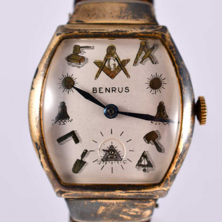 dial-masonic-watch-benrus-vintage-usa-1951-collection-vintage-watches-shop-mostra-store-aix-en-provence-france