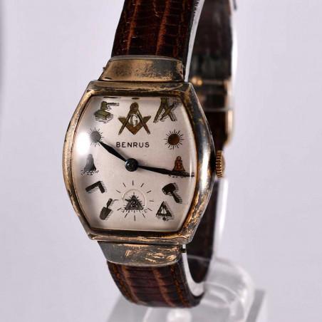 montre-ancienne-maconnique-de-collection-benrus-occasion-1951-usa-boutique-montres-vintages-mostra-store-aix-en-provence