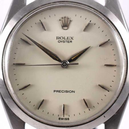 cadran-vanille-rolex-precision-classic-6424-transition-vintage-1957-occasion-collection-boutique-mostra-store-aix-en-provence