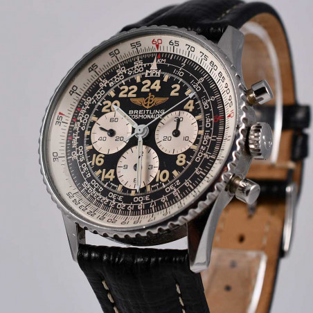 montre-de-pilote-breitling-cosmonaute-navitimer-vintage-1994-guilt-collection-aviation-chronographe-mostra-store-aix-provence