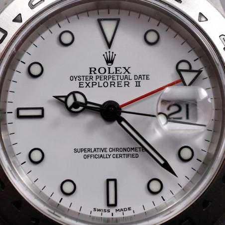 cadran-rolex-explorer-2-16750-polar-blanc-2008-montre-occasion-vintage-boutique-mostra-store-aix-en-provence-france