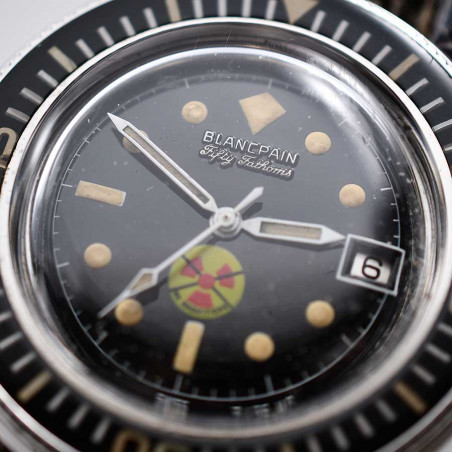 dial-blancpain-rayville-fifty-fathoms-1965-aqualung-vintage-watches-shop-mostra-store-aix-en-provence-france