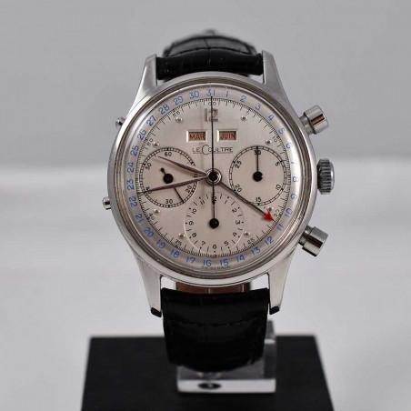 montre-lecoultre-jaeger-tri-compax-quantieme-complication-1947-calibre-valjoux-72c-vintage-collection-expertise-achat-aix