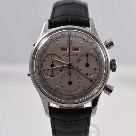 montre-lecoultre-jaeger-tri-compax-quantieme-complication-1947-calibre-valjoux-72c-vintage-collection-aix-mostra-store-france