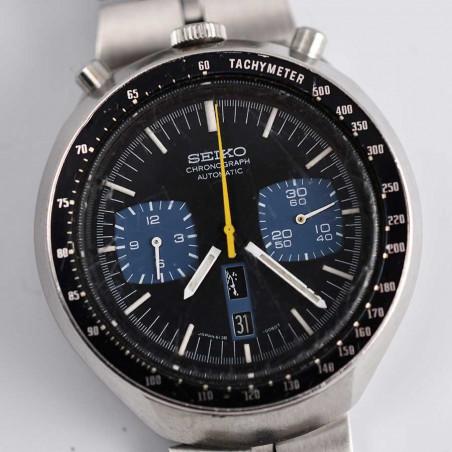 cadran-montre-seiko-bullhead-vintage-chronograph-6138-kakume-blue-circa-1971-boutique-montres-occasion-aix-en-provence-