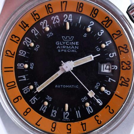 montre-glycine -airman-2-vintage-gmt-pilote-sst1-collection- occasion-aviation-paris-marseille-lyon-aix