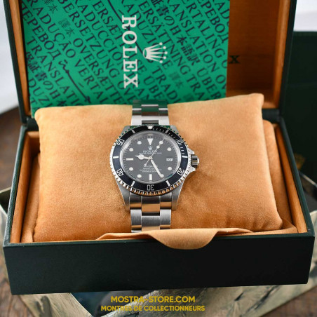 rolex-sea-dweller-16600-transition-2-mostra-store-aix-1995-tritium-boutique-occasion-rolex-montres-de-luxe-paris-vintage-box-set