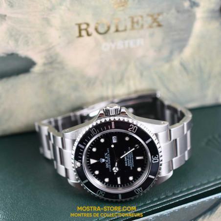 montre-rolex-sea-dweller-16600-transition-mostra-store-aix-1995-tritium-boutique-occasion-rolex-montres-de-luxe-plongee-watch