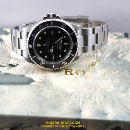 montre-rolex-sea-dweller-16600-transition-mostra-store-aix-1995-tritium-boutique-occasion-rolex-montres-de-luxe-boite-box