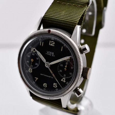 montre-vintage-vixa-military-type-20-flyback-pilote-armee-del-air-1954-hanhart-expertise-achat-boutique-marseille-aix-france