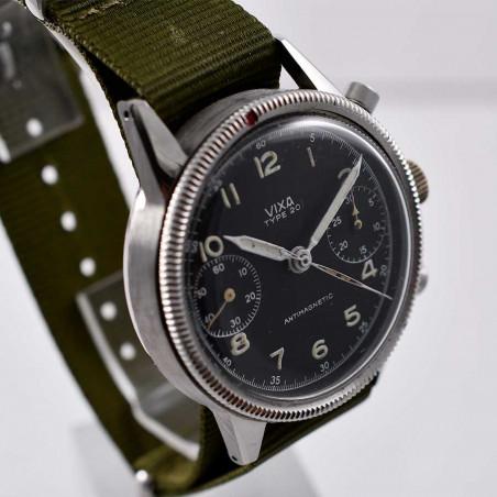 montre-vintage-vixa-military-type-20-flyback-pilote-armee-del-air-1954-hanhart-salon-provence-aix-toulon-expert