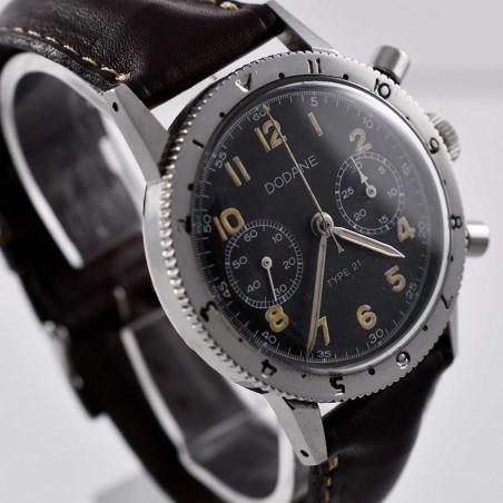 montre-vintage-dodane-military-type-21-flyback-pilote-armee-de-terre-1967-calibre-valjoux-223-expertise-achat-paris-nice-aix