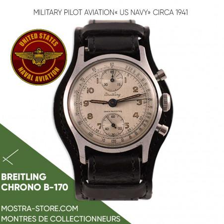 montre-militaire-vintage-breitling-pilote-boutique-aix-en-provence-paris-mostra