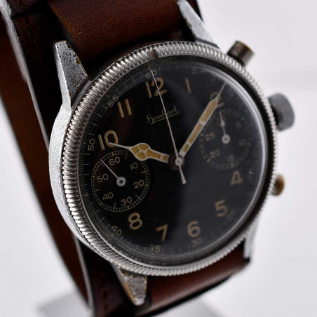 hanhart-military-flieger-pilot-chronograph-steve-mcqueen-1947-flyback-vintage watch-shop-paris-mostra-store-aix-provence-france