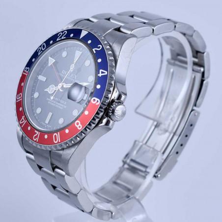 montres-modernes-de-collection-rolex-gmt-master-2-pepsi-vintage-occasion-2005-16710-mostra-store-aix-en-provence-france