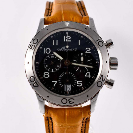 montre-occasion-vintage-breguet-type-20-transatlantique-titane-collection-classique-luxe-mostra-store-boutique-aix-en-provence