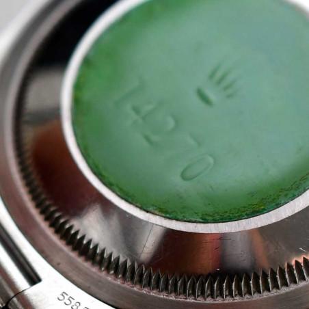 dos-boitier-rolex-explorer-ref-14270-montre-vintage-1991-occasion-collection-classique-mostra-store-aix-en-provence