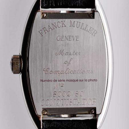 gravure-boitier-franck-muller-2005-conquistador-vintage-occasion-luxe-boutique-montres-mostra-store-aix-en-provence-france