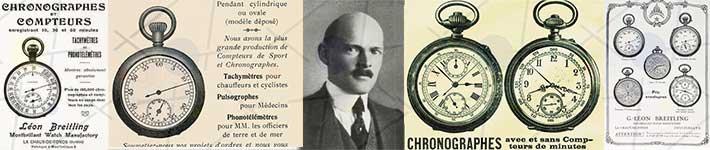 Breitling Gaston et ses montres chronographes