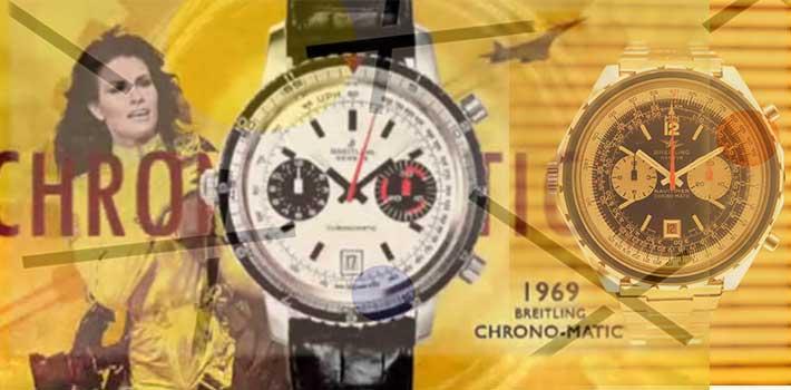 Breitling navitmer chronomatic 1969 watches vinatge