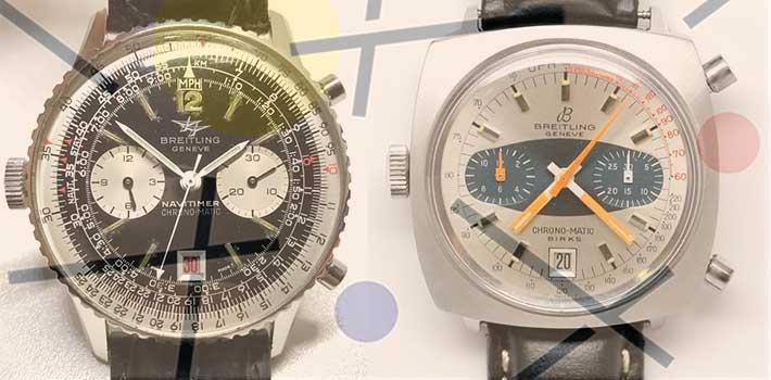 Breitling Chronomatic Birks et Navitimer