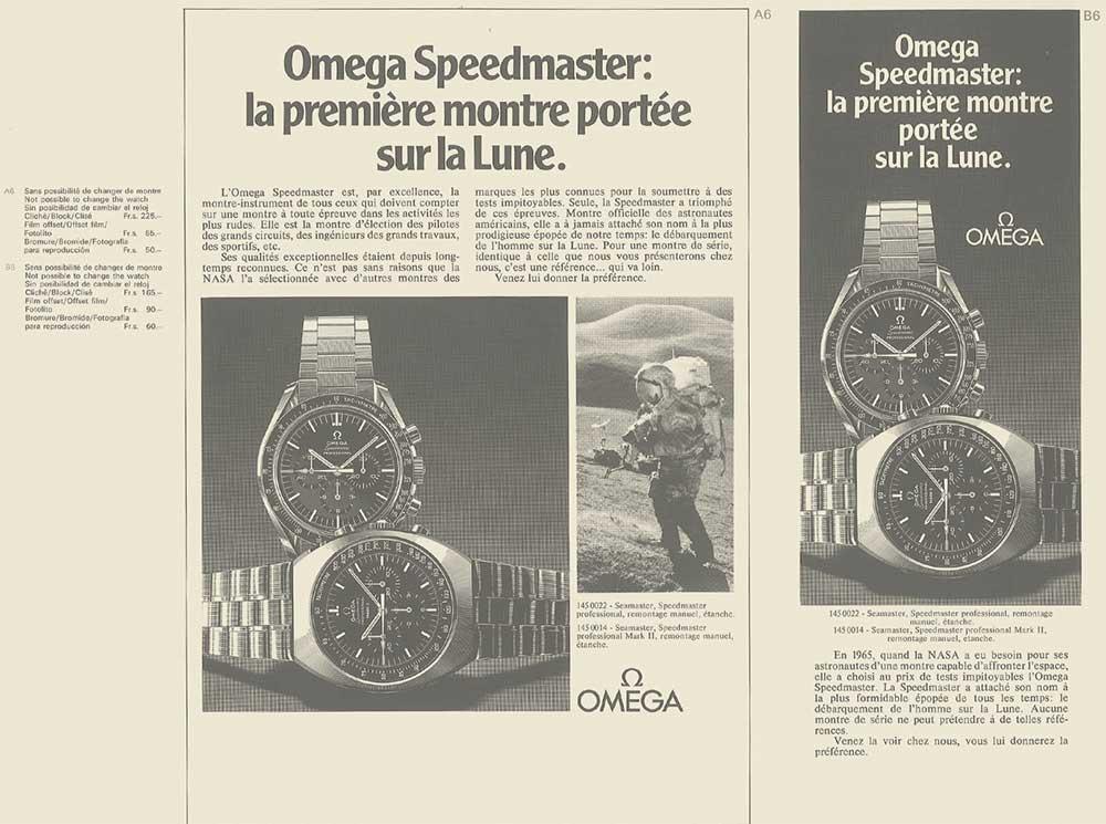 Omega moonwatch speedmaster master publicite