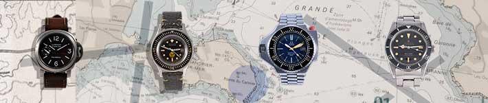 collection-montres-plongee-1950-1970-blancpain-panerai-rolex-omega-submariner-plopro