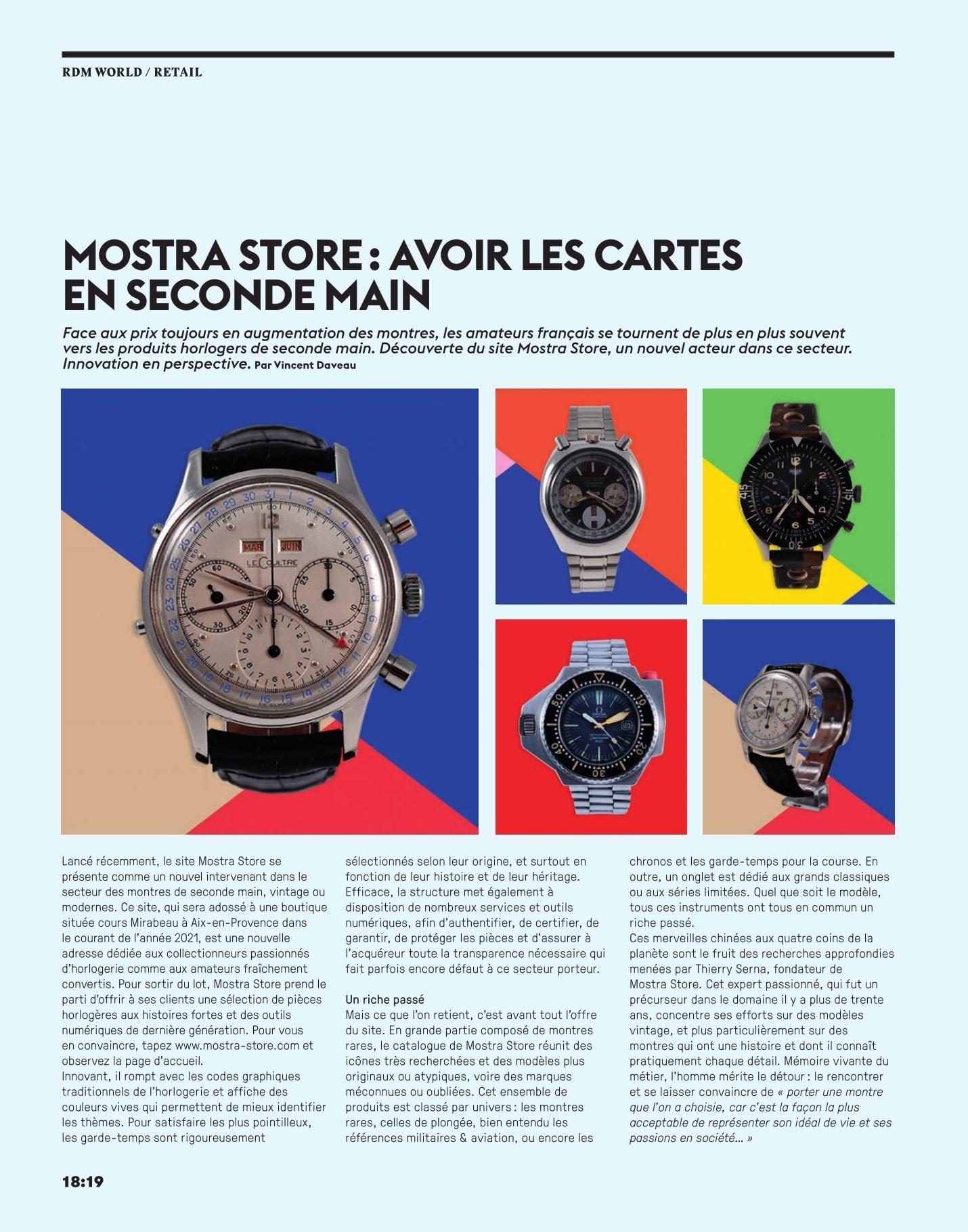 article-la-revue-des-montres-mostra-store-aix-en-provence